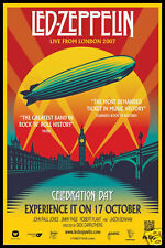 Led Zeppelin FRIDGE MAGNET Reunion Live in London Concert Poster CANVAS Print