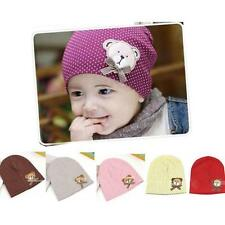 Unisex Baby Infant Toddler Dot Bear Cap Beanie Woolen Hat Birthday Gift Boy Girl