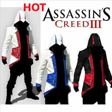 Assassins Creed 3 III Conner Kenway Hoodie/Coat/Jacket Cosplay Costume Top BNWT