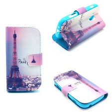 Pairs Tower Folio Flip Wallet Leather Case Cover Stand For Various Smart phones