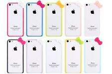TIAU Cute Hello Kitty Bowknot Bow 1PC Bumper Frame Cover Skin Case for iPhone 5C