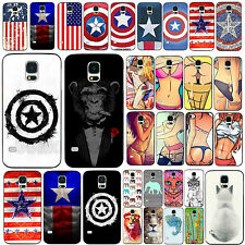 Beauty Sexy Phone Case Cover Painted Captain America Skin Fr Samsung S4 S5 i9500