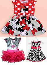 2014 Baby Girls Cute Minnie Mouse Hello Kitty TUTU Cotton Dress FREE SHIPPING