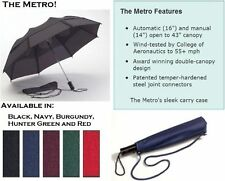 GustBUSTER METRO FOLDING WINDPROOF UMBRELLA Storm Vented Strongest Smartest