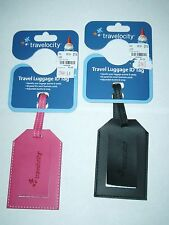TRAVELOCITY TRAVEL LUGGAGE ID TAG -YOU CHOOSE COLOR -(NEW)