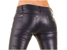 Sexy Women's Skinny Jeans Trousers Hipsters Faux leather-look -143