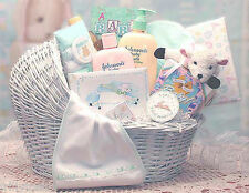 Welcome Baby Bassinet New Baby Gift  Basket Girl Boy Unisex