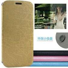 Drizzle Scratch PU Leather Flip Stand Cover Case for Lenovo S820