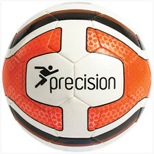 Precision Training Santos Football Soccer Ball White Fluo Orange Black