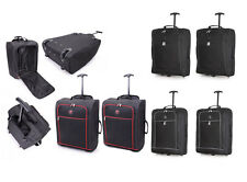 Twin Set 55x40x20 Ryanair Trolley Cabin Approved Wheeled Suitcase Hand Luggage