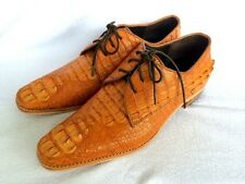 NEW!!!GENUINE CROCODILE LEATHER CAIMAN HORNBACK SKIN TAN LOAFERS SHOES MENS