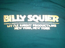 Billy Squier Live Through TheConcert Tour Classic Rock T Shirts 3X 2X Small