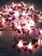 35 FRANGIPANI FLOWER HOME DECOR STRING CEILING LIGHTS - CHOICE OF: **6 COLORS**