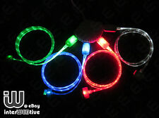 Quality Visible LED Light Up USB Data Changer Cable Cord For iPhone 5 5C 5S IOS7