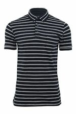 Mens Pique Polo T Shirt Twin Striped French Connection FCUK Short Sleeved Jersey