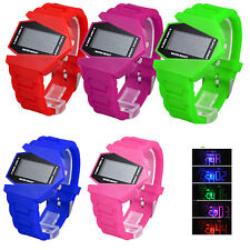 Unisex Military Style LED Digital Display Sports Silicone Band Date Wrist Watch