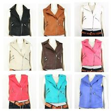 New Women Motocycle Faux Leather Vest Jacket 8Color S/M/L/XL/2XL/3XL (650)