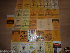 Meadowbank Home Programmes  1975 onwards. Select the one(s) you require