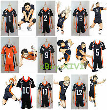 Haikyuu! Karasuno High School Uniform Jersey Karasuno Volleyball Cosplay Costume