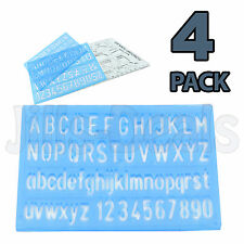 STENCIL SET  ALPHABET NUMBER LETTERS SIGN WRITING STYLE TEMPLATE FONT CHILDREN