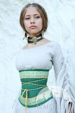 "Medieval Costume , Medieval Flax Corset Belt ""Mistress Of The Hills"""