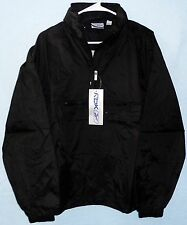 CLOSEOUT PRICE Reebok Black Nylon Rain Hoodie Pullover Zip Jacket NWT