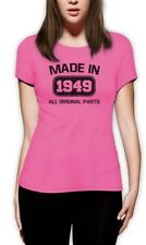 Made in 1949 Women T-Shirt 65th Birthday Funny Gift Idea Present Father's day