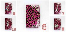 3D LUXURY DIAMOND RHINESTONE BLING CRYSTAL COVER WALLET CASE FOR MOBILE PHONES 5