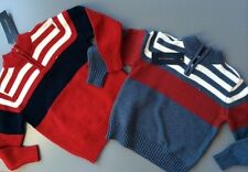 NWT New Boys Tommy Hilfiger Sweater 3T 4T 5T $44.50 1/4 Zip Pullover Red or Gray