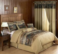 Wild Deer Elk Design French Country Comforter Set Rustic Cabin Lodge Nature 7pc