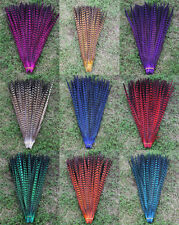 "Wholesale 10,50pcs natural Multicolor Dyed 16-22"" pheasant Tail feathers"