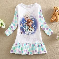 NWT Frozen Princess Elsa and Anna Holiday Girls Dress Clothes Sz 3 4 5 6 7 8