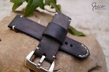 Handmade watch strap Vintage Gray panerai any size available Genuine leather