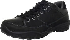 Caterpillar RECOURSE  Oxford Mens Work Casual  Black Leather Shoes Sneakers