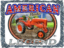 ALLIS CHALMERS MODEL B TRACTOR ANTIQUE AMERICAN LEGEND PRINTED T-SHIRT SMALL-4XL