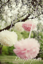 12 tissue paper pom poms LARGE or MEDIUM or SMALL - Wedding decorations