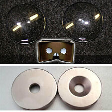 QTY 2 x BiConvex Lens + QTY 2 X MAGNET for Google Cardboard VR 3D Glasses