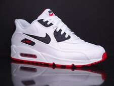 NIKE Air Max 90 LTR white university red black New Leather Running 652980 100