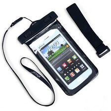 New Waterproof Pouch Dry Bag Cover Case Skin For Cell Phone PDA Blue /Black
