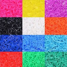 Hot 600 Bands Colourful Rubber Bands 24 Clips 1 Hook Rainbow Loom Refill DIY Kit