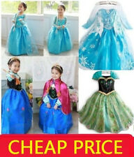 Frozen Elsa Anna Costume Disney Princess Dresses Girls Fancy Outfit Long Dress