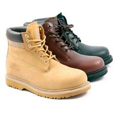 LADIES WOMENS LEATHER WORK SAFETY BOOTS GROUNDWORK  TAN BLACK  BROWN FAB17