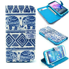 Elephant Hybrid Flip Wallet card slot Leather Stand Case Cover Skin for phones