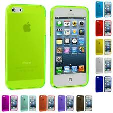 For Apple iPhone 5 5G Color Clear Transparent TPU Plain Rubber Skin Case Cover