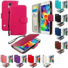 For Samsung Galaxy S5 Leather Wallet Leather Pouch Case Cover Flip Card Holder
