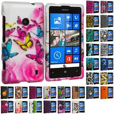 For Nokia Lumia 521 Hard Design Matte Rubberized Skin Case Cover Accessory