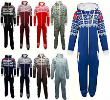 BRAND NEW ADULT UNISEX MEN'S WOMEN'S AZTEC PRINT HOODED ONESIE JUMPSUIT APPARAL