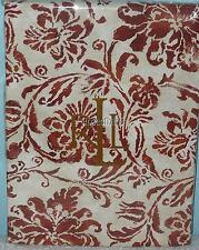 RALPH LAUREN TABLECLOTH BLUFF POINT RUST FLORAL 70 Rd or 84 or 104 or 120 COTTON