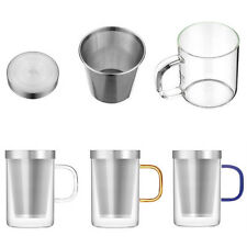 500ml Office Party Heat Resistant Glass Tea Cup Water Mug Brewing Tea Infuser