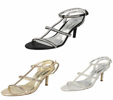 LADIES ANNE MICHELLE DIAMANTE SANDAL AVAILABLE  IN BLACK AND CHAMPAGNE F10300